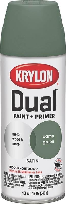 krylon dual satin spray paint primer c green 12 oz Asphalt Primer dual satin spray paint primer c green 12 oz