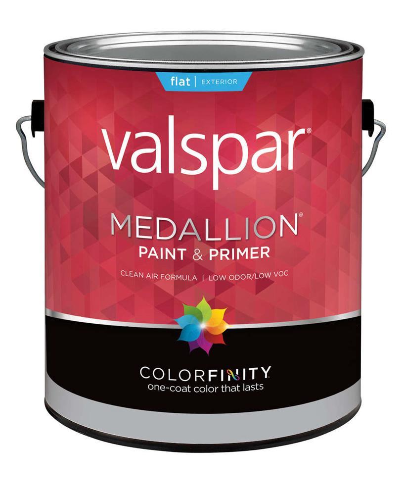 Medallion Exterior Paint Primer Flat Black 1 Gallon