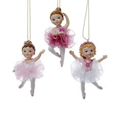 Ballerina Girl Ornament, Assorted