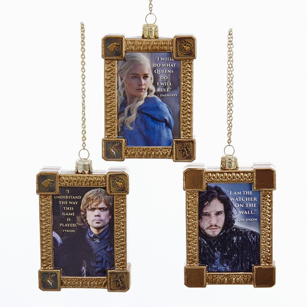 Kurt S. Adler - Game of Thrones Glass Frame Ornament, Assorted