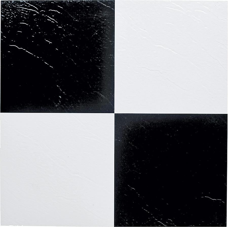 Mintcraft 12 In X 12 In Self Adhesive Vinyl Floor Tile Blackwhite