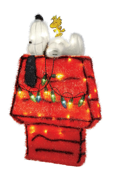 snoopy and dog house yard decoration - Snoopy House Christmas