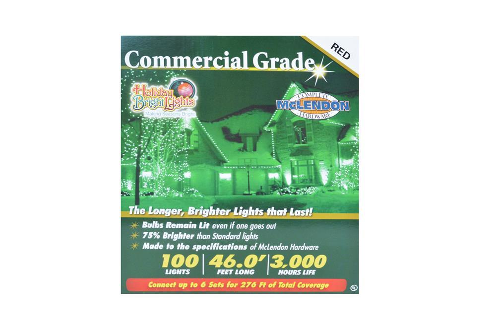 100 Lights Green 46 Feet Long Holiday Bright Lights Commercial Grade