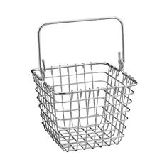 7 in. x 7 in. Chrome Century Wire Storage Basket