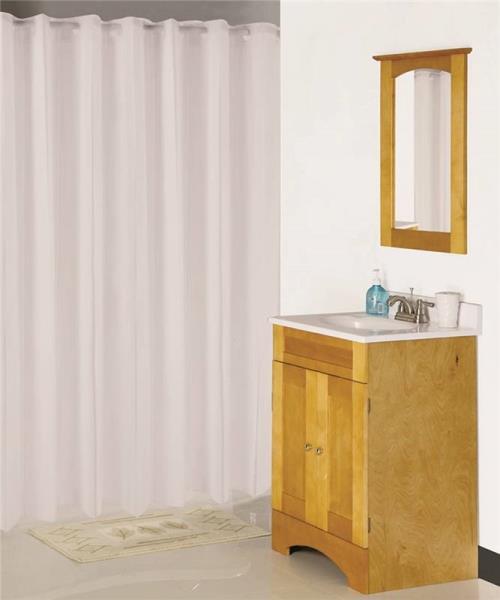 Hookless Vinyl Shower Curtain White