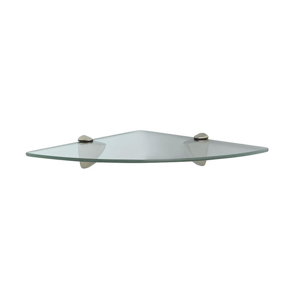 Knape & Vogt - 12 in. x 12 in. Corner Decorative Glass Shelf Kit